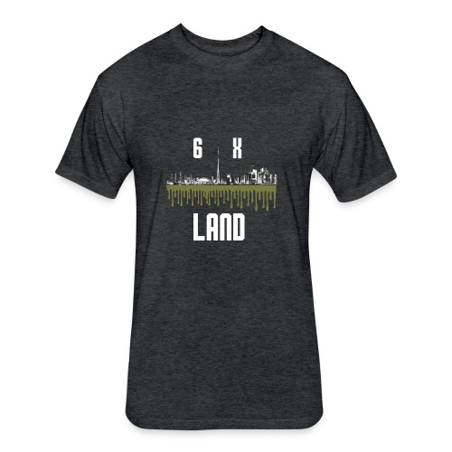 6ixland Logo - Fitted Cotton/Poly T-Shirt by Next Level
