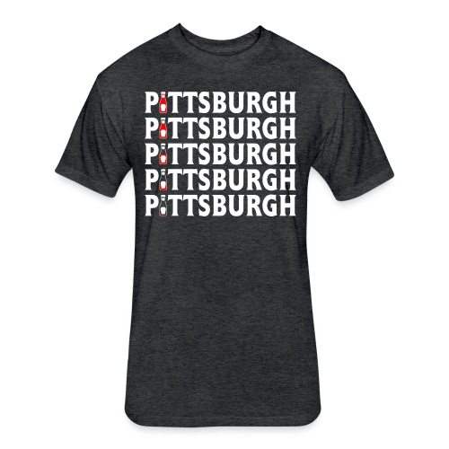 Ketch Up in PGH - Fitted Cotton/Poly T-Shirt by Next Level