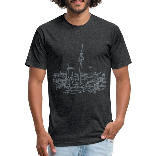 Panorama of Berlin - Fitted Cotton/Poly T-Shirt by Next Level