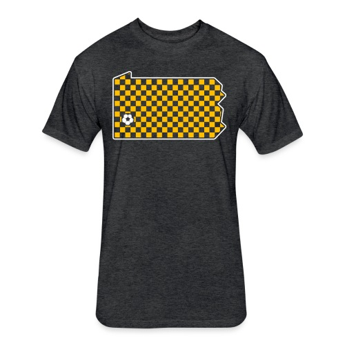 Pittsburgh Soccer - Fitted Cotton/Poly T-Shirt by Next Level