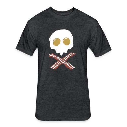 Breakfast Skull - Fitted Cotton/Poly T-Shirt by Next Level