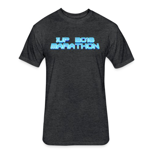 1UP 2018 Marathon - Fitted Cotton/Poly T-Shirt by Next Level