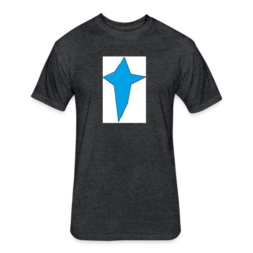 STAR CROSS - Fitted Cotton/Poly T-Shirt by Next Level
