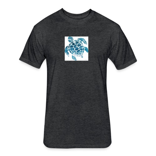 turtle - Fitted Cotton/Poly T-Shirt by Next Level