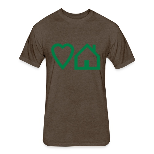 ts-3-love-house-music - Fitted Cotton/Poly T-Shirt by Next Level