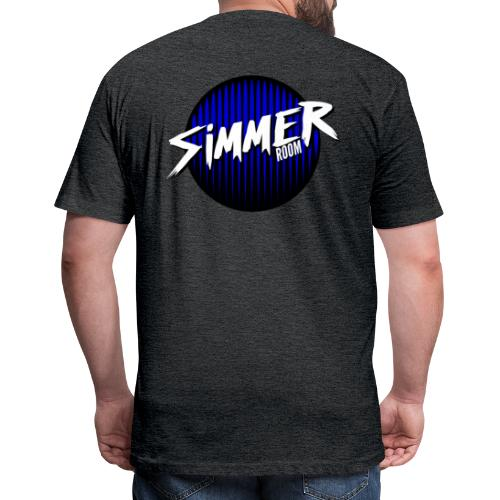 Simmer Room - Blue Drip - Fitted Cotton/Poly T-Shirt by Next Level