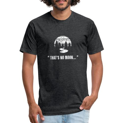 """"""" That's No Moon... """" - Fitted Cotton/Poly T-Shirt by Next Level"""