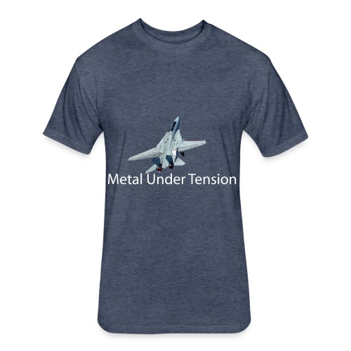 Metal Under Tension - Fitted Cotton/Poly T-Shirt by Next Level