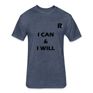 RayTive ICAN IWILL - Fitted Cotton/Poly T-Shirt by Next Level