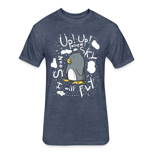 up up pinguin2 - Fitted Cotton/Poly T-Shirt by Next Level