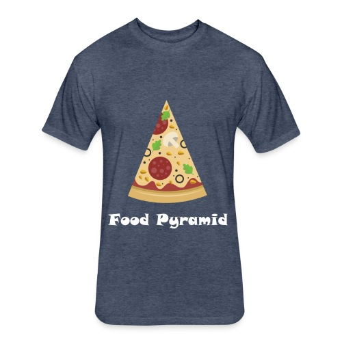 My Food Pyramid, Food Pyramid Shirt, Pizza, Pizza - Fitted Cotton/Poly T-Shirt by Next Level