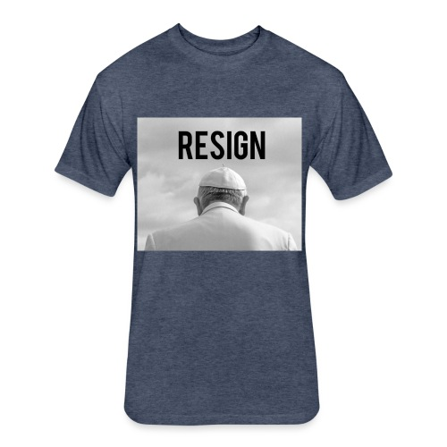 Resign - Fitted Cotton/Poly T-Shirt by Next Level