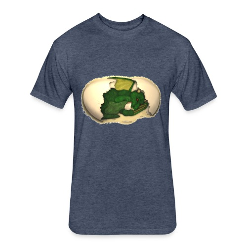 The Emerald Dragon of Nital - Fitted Cotton/Poly T-Shirt by Next Level