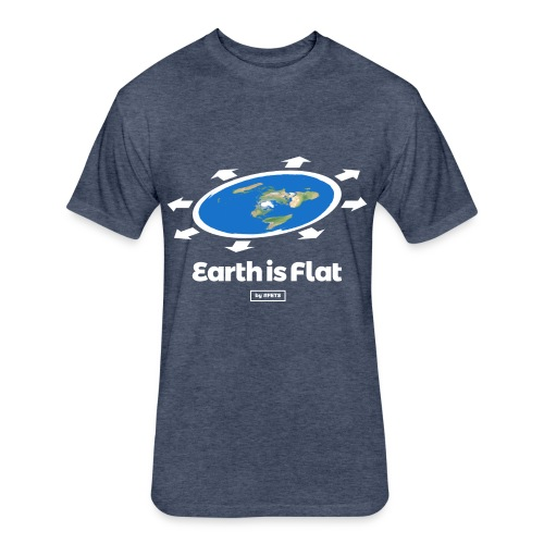 Flat Earth Design by #FETS - N°1 - Fitted Cotton/Poly T-Shirt by Next Level