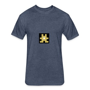 YELLOW hashtag - Fitted Cotton/Poly T-Shirt by Next Level