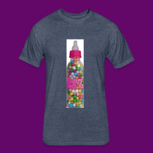 Sugary Nipples - Fitted Cotton/Poly T-Shirt by Next Level