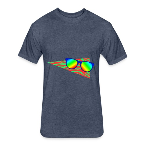 Sunglasses 002 - Fitted Cotton/Poly T-Shirt by Next Level