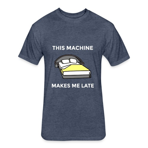 Machine - Fitted Cotton/Poly T-Shirt by Next Level