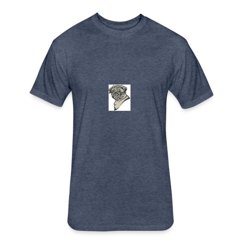 Pug shirt and hoosie - Fitted Cotton/Poly T-Shirt by Next Level