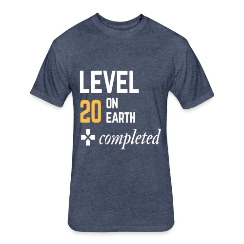 20th birthday gift level 20 on earth completed - Fitted Cotton/Poly T-Shirt by Next Level