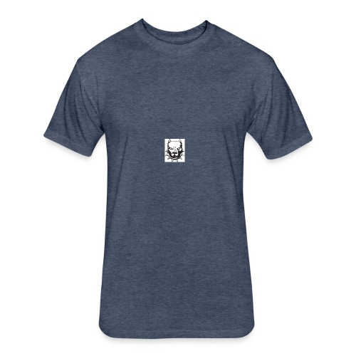 T-shirt for mans with pitbull logo - Fitted Cotton/Poly T-Shirt by Next Level