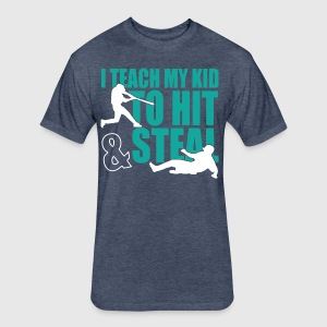 Baseball Dad - Fitted Cotton/Poly T-Shirt by Next Level