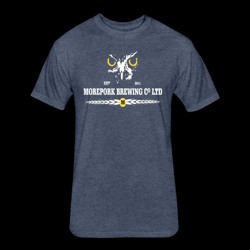 Morepork Brewing logo - Fitted Cotton/Poly T-Shirt by Next Level