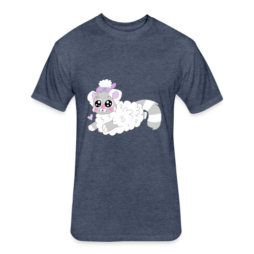 cute red panda in sheep cosplay - Fitted Cotton/Poly T-Shirt by Next Level