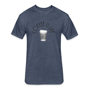 Coffee is life - Fitted Cotton/Poly T-Shirt by Next Level