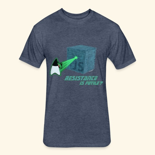 Resistance is futile? - Fitted Cotton/Poly T-Shirt by Next Level