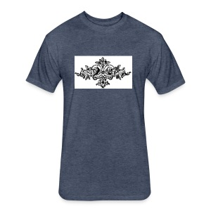 floral motif 6 lg - Fitted Cotton/Poly T-Shirt by Next Level