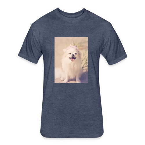 Puppy - Fitted Cotton/Poly T-Shirt by Next Level