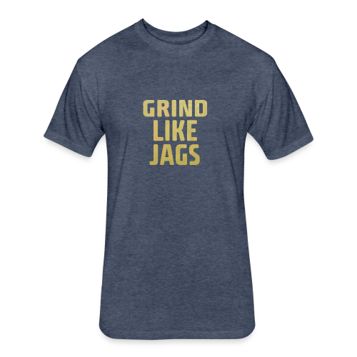 GrindLike Jags Logo - Fitted Cotton/Poly T-Shirt by Next Level