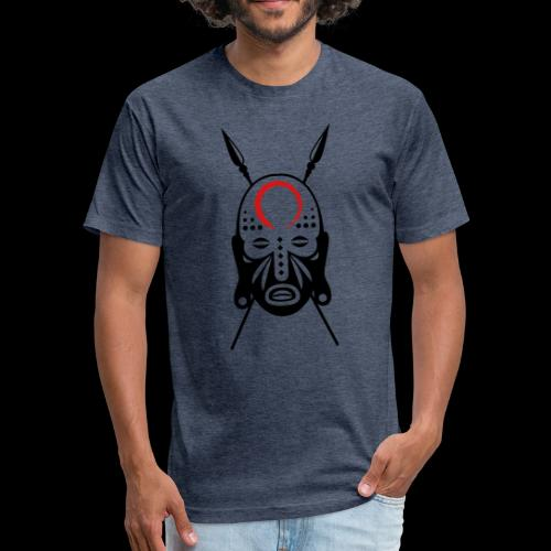 Zen/Lu Warrior Mask - Fitted Cotton/Poly T-Shirt by Next Level