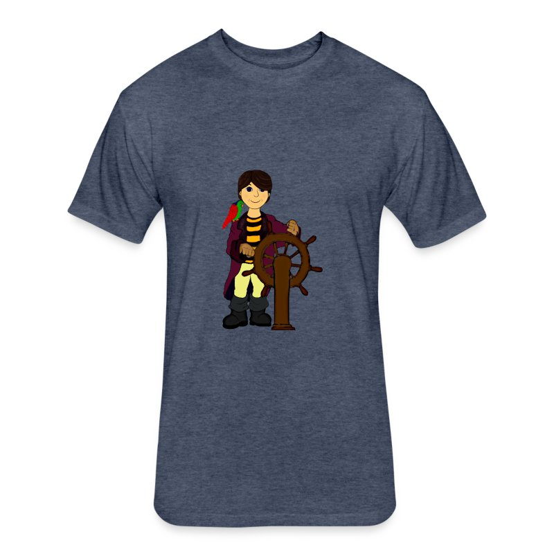Alex the Great - Pirate - Fitted Cotton/Poly T-Shirt by Next Level