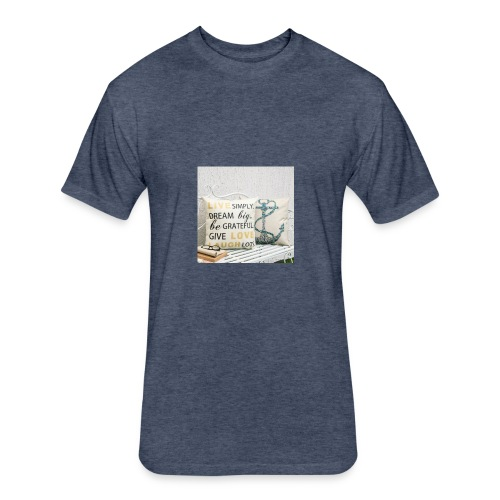 live laugh and love bag - Fitted Cotton/Poly T-Shirt by Next Level