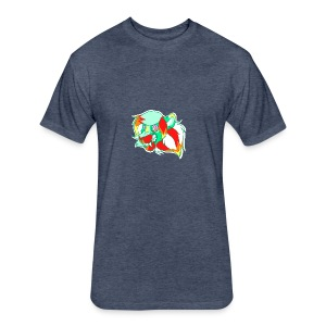 Psychedelic Lion - Fitted Cotton/Poly T-Shirt by Next Level