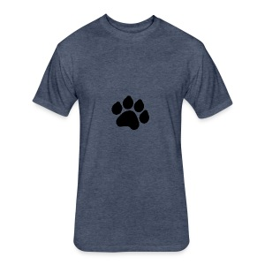 Black Paw Stuff - Fitted Cotton/Poly T-Shirt by Next Level