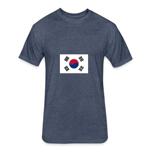 Flag of South Korea - Fitted Cotton/Poly T-Shirt by Next Level