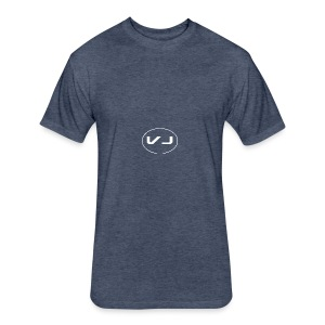 Vloggerjoe White circle lgo - Fitted Cotton/Poly T-Shirt by Next Level