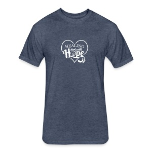 Healing with Hope - Fitted Cotton/Poly T-Shirt by Next Level