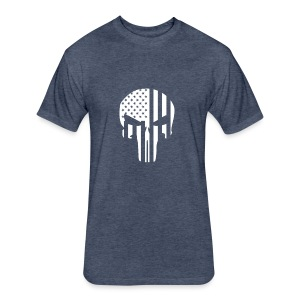 punisher - Fitted Cotton/Poly T-Shirt by Next Level