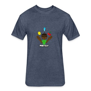 Pretzly Design - Fitted Cotton/Poly T-Shirt by Next Level