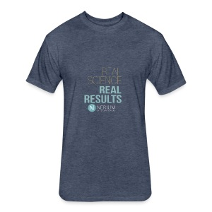 Real Science Real Results Nerium - Fitted Cotton/Poly T-Shirt by Next Level