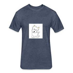 cute pup - Fitted Cotton/Poly T-Shirt by Next Level