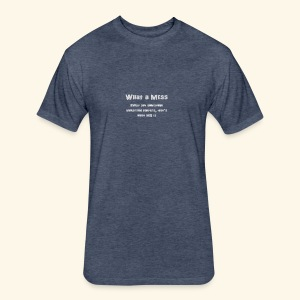 MeSs Grey Text - Fitted Cotton/Poly T-Shirt by Next Level