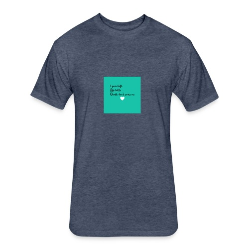 My thoughts - Fitted Cotton/Poly T-Shirt by Next Level