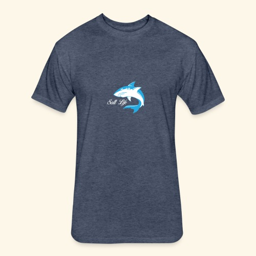 Salt life shark - Fitted Cotton/Poly T-Shirt by Next Level