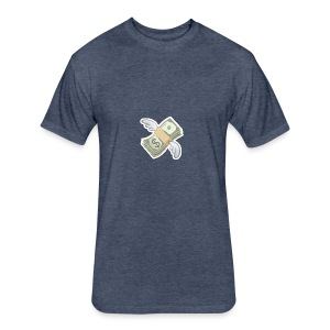 Money With Wings - Fitted Cotton/Poly T-Shirt by Next Level