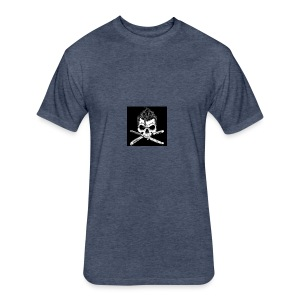 Greaser skull - Fitted Cotton/Poly T-Shirt by Next Level